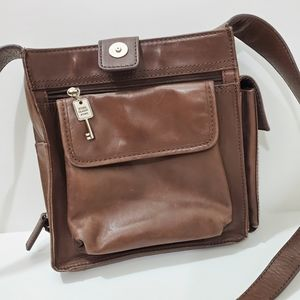 Vintage fossil Crossbody Bag. Pure leather.